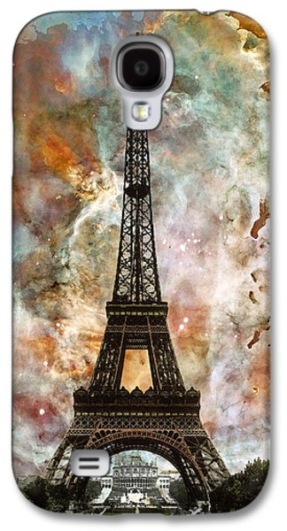 Architecture Mixed Media Galaxy S4 Cases - The Eiffel Tower - Paris France Art By Sharon Cummings Galaxy S4 Case by Sharon Cummings