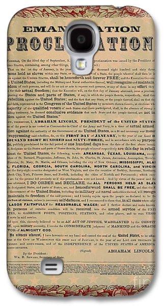 The Emancipation Proclamation Galaxy S4 Case by American School