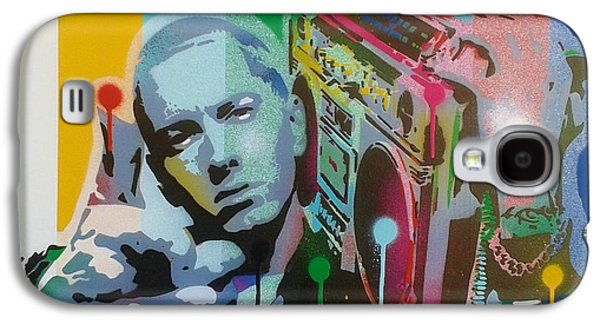 Eminem Paintings Galaxy S4 Cases - The Eminem Show Galaxy S4 Case by Leon Keay