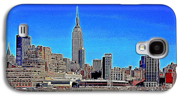 Manhatten Galaxy S4 Cases - The Empire State Building and The New York Skyline 20130430 Galaxy S4 Case by Wingsdomain Art and Photography