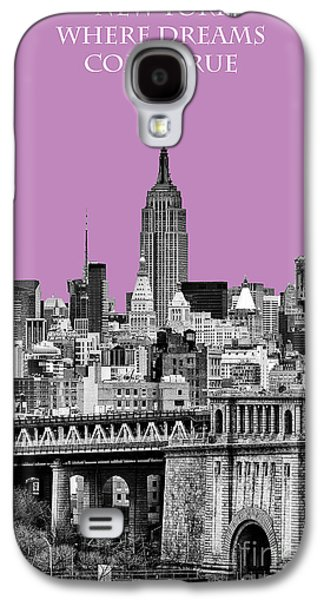 The New York New York Galaxy S4 Cases - The Empire State Building pantone african violet Galaxy S4 Case by John Farnan