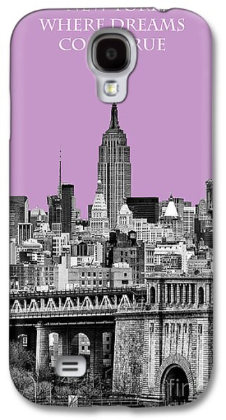 The New York New York Galaxy S4 Cases - The Empire State Building Pantone african violet light Galaxy S4 Case by John Farnan