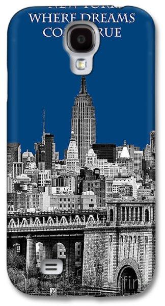 The New York New York Galaxy S4 Cases - The Empire State Building pantone blue Galaxy S4 Case by John Farnan