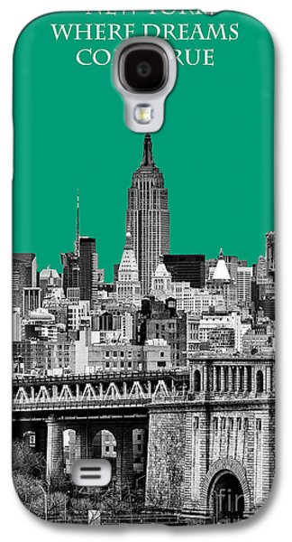 The New York New York Galaxy S4 Cases - The Empire State Building Pantone Emerald Galaxy S4 Case by John Farnan