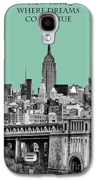 The New York New York Galaxy S4 Cases - The Empire State Building Pantone Jade Galaxy S4 Case by John Farnan