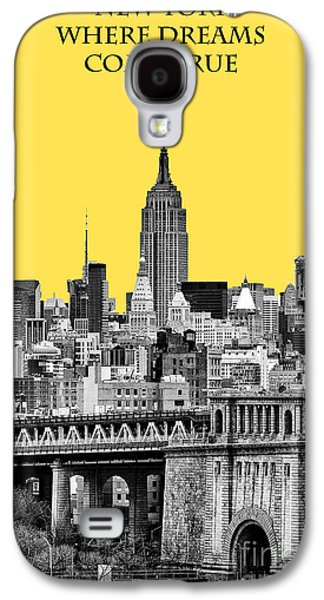 The New York New York Galaxy S4 Cases - The Empire State Building pantone yellow Galaxy S4 Case by John Farnan