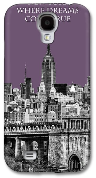 The New York New York Galaxy S4 Cases - The Empire State Building Plum Galaxy S4 Case by John Farnan