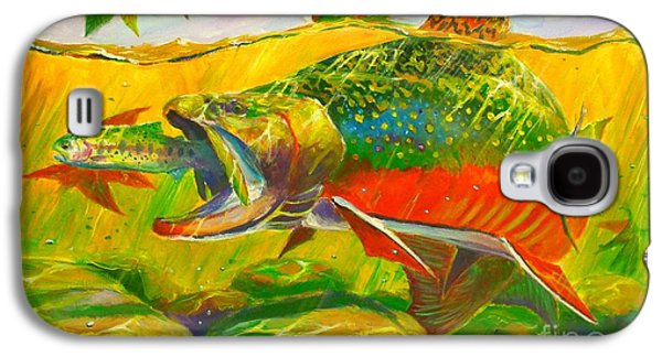 Shark Paintings Galaxy S4 Cases - The end of the rainbow  Galaxy S4 Case by Yusniel Santos