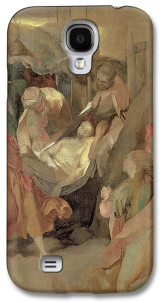 Religious Galaxy S4 Cases - The Entombment of Christ Galaxy S4 Case by Barocci