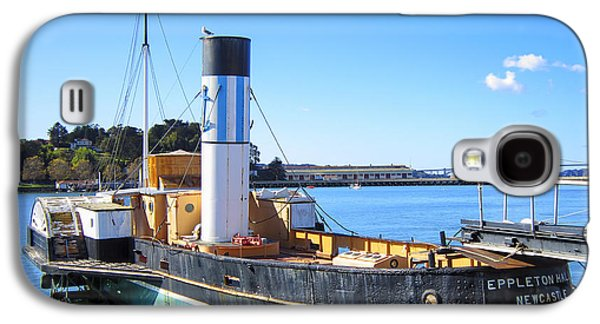 Historic Ship Galaxy S4 Cases - The EPPLETON HALL PADDLEWHEEL TUGBOAT - 1914 Galaxy S4 Case by Daniel Hagerman