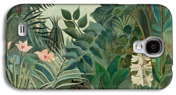 Hidden Galaxy S4 Cases - The Equatorial Jungle Galaxy S4 Case by Henri Rousseau