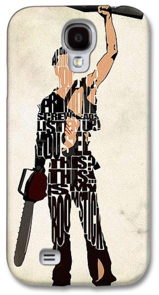 The Evil Dead - Bruce Campbell Galaxy S4 Case by Ayse Deniz