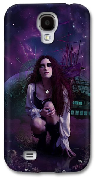 Phantasie Digital Art Galaxy S4 Cases - The Explorer Galaxy S4 Case by Cassiopeia Art