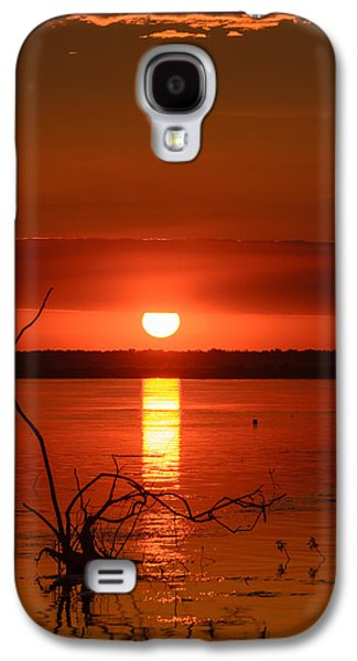 Waterscape Pyrography Galaxy S4 Cases - The eye of God Galaxy S4 Case by Attila Simon