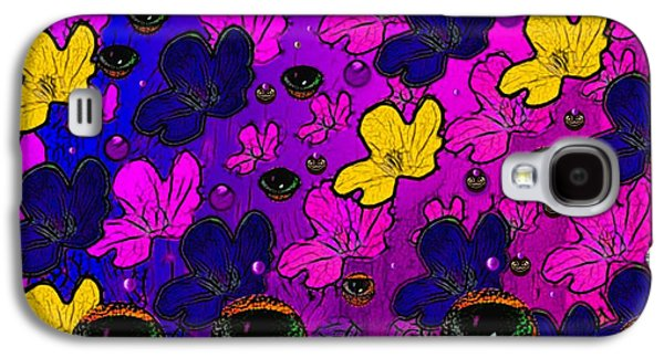 Contemplative Mixed Media Galaxy S4 Cases - The eyes of mother nature serve and protect Galaxy S4 Case by Pepita Selles