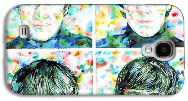 Ringo Starr Paintings Galaxy S4 Cases - the FAB FOUR - watercolor portrait Galaxy S4 Case by Fabrizio Cassetta