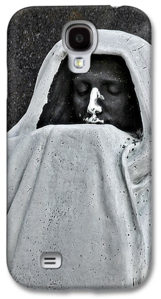 Ghastly Galaxy S4 Cases - The Face of Death - Graceland Cemetery Chicago Galaxy S4 Case by Christine Till