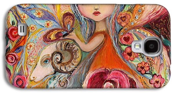 Zodiac Paintings Galaxy S4 Cases - The Fairies of Zodiac series - Aries Galaxy S4 Case by Elena Kotliarker