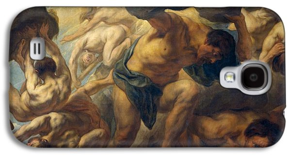 1636 Paintings Galaxy S4 Cases - The fall of the Giants Galaxy S4 Case by Jacob Jordaens