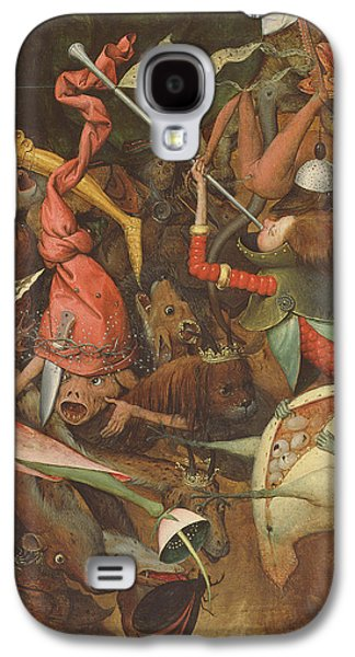 Monster Galaxy S4 Cases - The Fall Of The Rebel Angels, 1562 Oil On Panel Detail Of 74037 Galaxy S4 Case by Pieter the Elder Bruegel