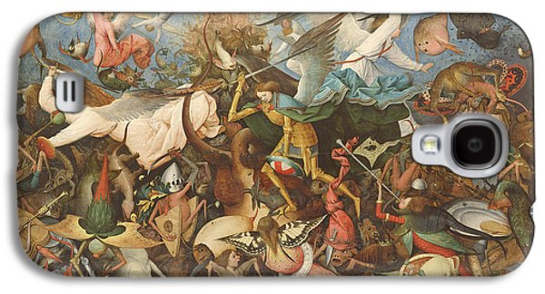Monster Galaxy S4 Cases - The Fall Of The Rebel Angels, 1562 Oil On Panel Galaxy S4 Case by Pieter the Elder Bruegel