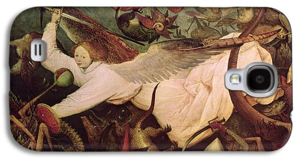 Horror Galaxy S4 Cases - The Fall Of The Rebel Angels, Detail Of The Angel On The Left Hand Side, 1562 Oil On Panel Galaxy S4 Case by Pieter the Elder Bruegel