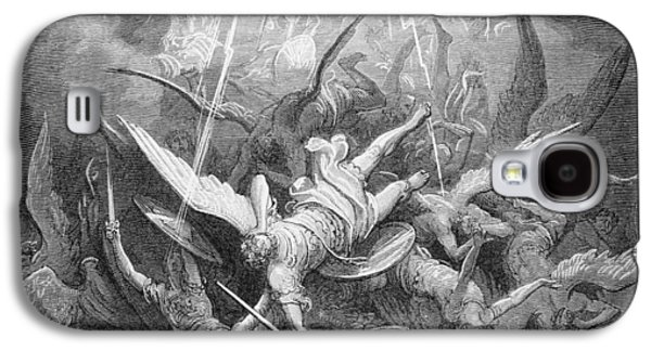 The Fall Of The Rebel Angels Galaxy S4 Case by Gustave Dore