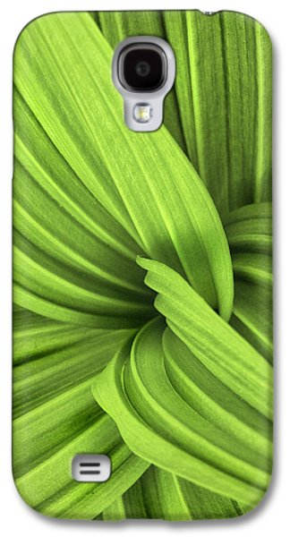 Weed Line Galaxy S4 Cases - The False Hellebore-Abstract Patterns in Nature Galaxy S4 Case by Thomas Schoeller
