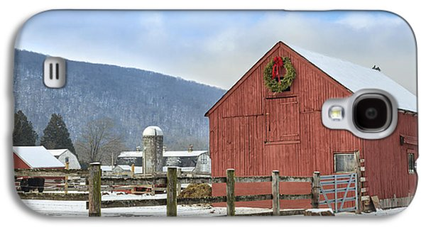 Rural Snow Scenes Galaxy S4 Cases - The Farm Galaxy S4 Case by Bill  Wakeley