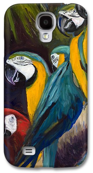 Group Of Birds Paintings Galaxy S4 Cases - The Feisty One Galaxy S4 Case by Billie Colson