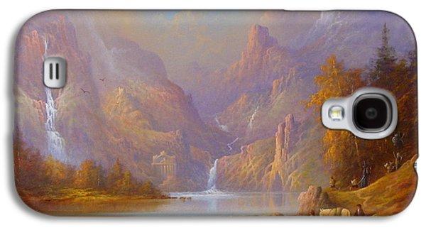 The Fellowship Doors Of Durin Moria.  Galaxy S4 Case by Joe  Gilronan