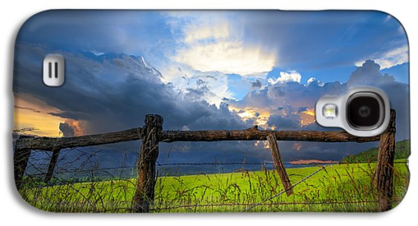 Pioneer Scene Galaxy S4 Cases - The Fence at Cades Cove Galaxy S4 Case by Debra and Dave Vanderlaan