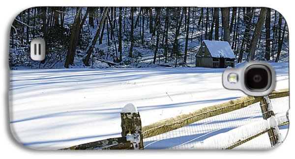 Winter Road Scenes Galaxy S4 Cases - The Fence Line Galaxy S4 Case by Paul Ward