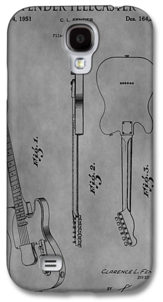 Music Drawings Galaxy S4 Cases - The Fender Telecaster Galaxy S4 Case by Dan Sproul