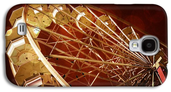 Mechanism Mixed Media Galaxy S4 Cases - The Ferris Wheel Galaxy S4 Case by Bob Pardue
