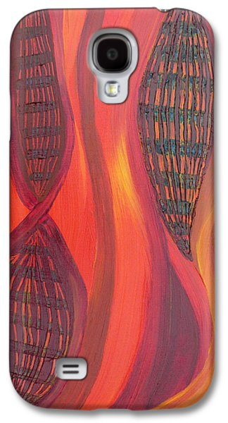 Daina White Galaxy S4 Cases - The Fire Molecule Galaxy S4 Case by Daina White