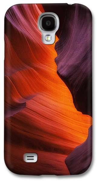 Southwest Landscape Galaxy S4 Cases - The Fire Within Galaxy S4 Case by Darren  White
