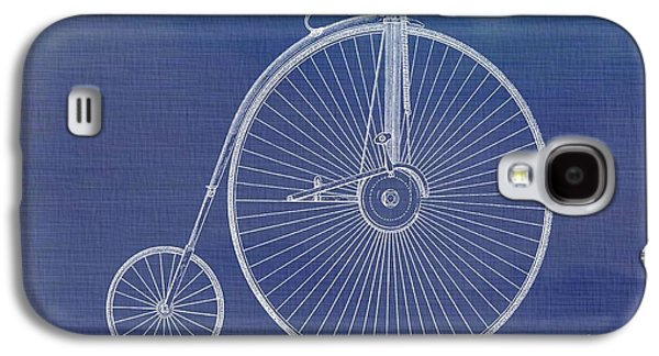 Transportation Mixed Media Galaxy S4 Cases - The First Bicycle Penny-farthing Galaxy S4 Case by Dan Sproul