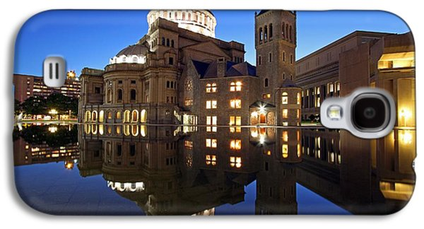 Home Improvement Galaxy S4 Cases - The First Church of Christ at Twilight Galaxy S4 Case by Juergen Roth