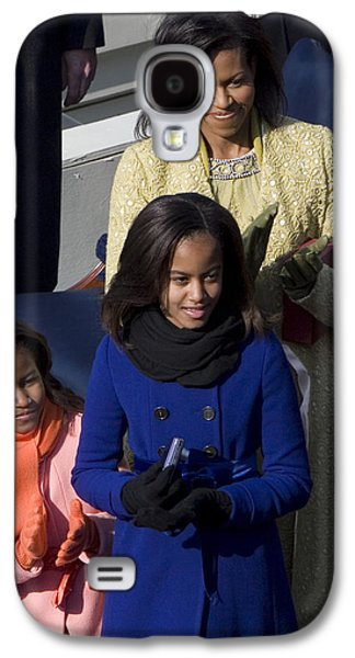 Michelle Obama Galaxy S4 Cases - The First Lady and Daughters Galaxy S4 Case by JP Tripp