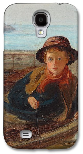 Sit-ins Galaxy S4 Cases - The Fisher Boy Galaxy S4 Case by William McTaggart