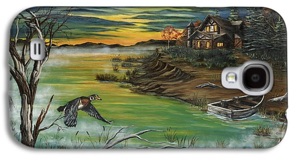 Kinkade Galaxy S4 Cases - The Fishermans Protege Galaxy S4 Case by Jim Olheiser