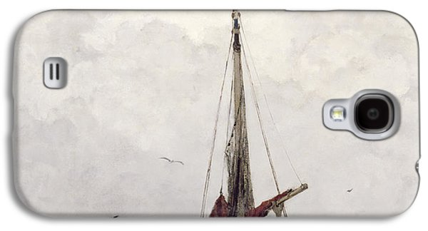 Water Vessels Paintings Galaxy S4 Cases - The Fishing Boat Galaxy S4 Case by Jacob H Maris