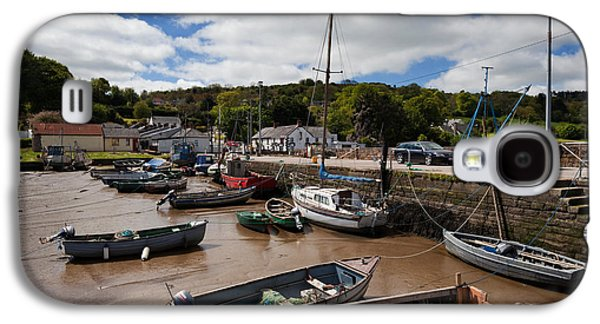 Fishing Village Galaxy S4 Cases - The Fishing Harbour At Cheekpoint Galaxy S4 Case by Panoramic Images
