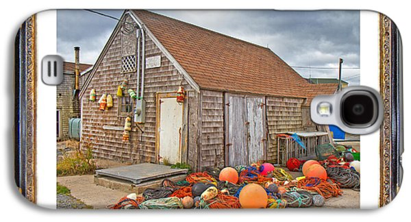 Bouys Galaxy S4 Cases - The Fishing Village Scene Galaxy S4 Case by Betsy A  Cutler