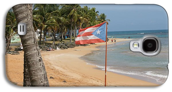Landscapes Tapestries - Textiles Galaxy S4 Cases - The flag of Puerto Rico Galaxy S4 Case by Walter Bosque del Rio