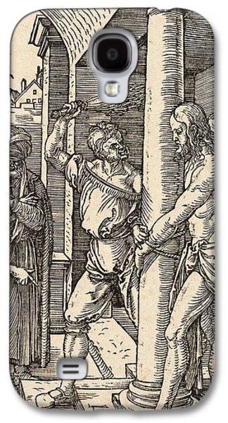 Blood Drawings Galaxy S4 Cases - The Flagellation Galaxy S4 Case by Albrecht Durer