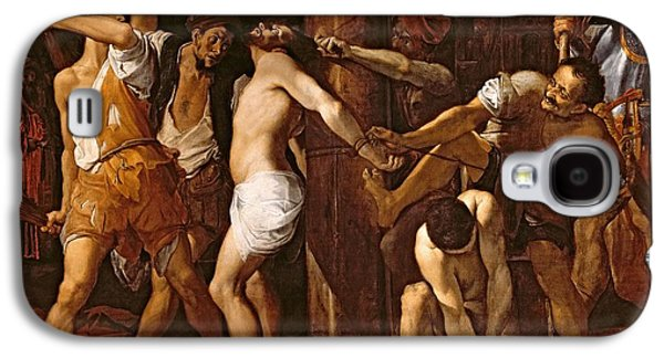 Jesus Photographs Galaxy S4 Cases - The Flagellation Of Christ, 1586-87 Oil On Canvas Galaxy S4 Case by Lodovico Carracci