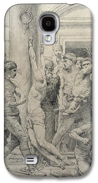 White Pastels Galaxy S4 Cases - The Flagellation of Christ Galaxy S4 Case by William Adolphe Bouguereau