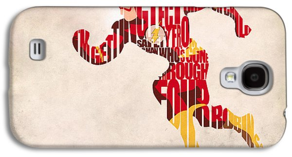 Wall Art Prints Digital Art Galaxy S4 Cases - The Flash Galaxy S4 Case by Ayse Deniz